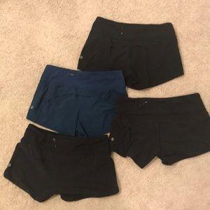 Lululemon running short bundle (4 pair)•size 6•EUC